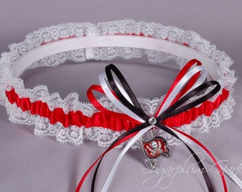 Tampa Bay Buccaneers Lace Wedding Garter - Ready to Ship