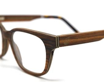 Verres en bois fait à la main verres Prescription lunettes lunettes bois carré bois rouge lunettes lunettes de soleil en bois en bois cadres Eco lunettes