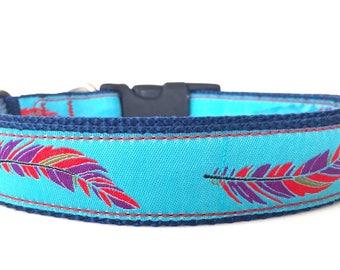 Feather Ribbon Dog Collar