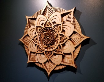 "Laser Cut Wall Sculpture - ""Efflorescence""  - limited edition of 10."