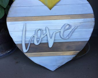 Reclaimed Trim 'Love' Sign