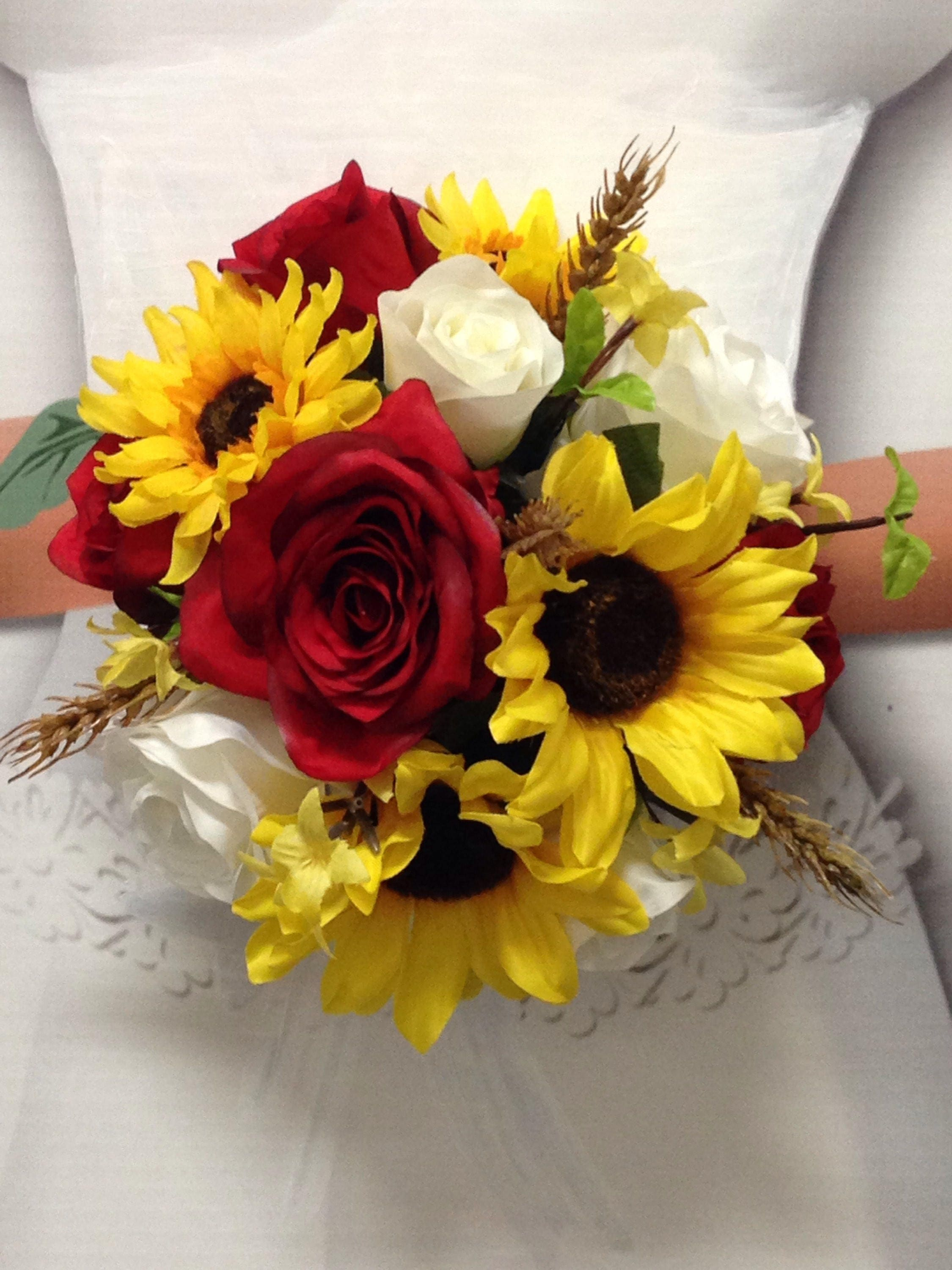 sunflower wedding bouquets ideas new wheat wedding flowers western sunflower 7829