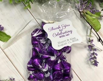 Thank You for Celebrating with Us! Custom Wedding Tags, Custom Hang Tags, Custom Favor Tags  (FS-005)