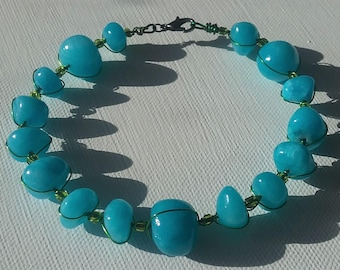 Blue Howlite Bracelet
