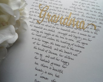 Outer Banks Wedding thanks gift personalized grandmother grandma granny godmother BeachHouseDreams Proverbs 31 holiday Christmas mom sister