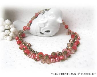 Orange coral necklace salmon watercolor 'Tonic'