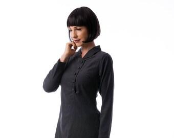 Black dress, winter dress , mini dress, Long Sleeve Dress, Fashion Dress, Womens Winter Dresses