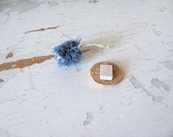 Blue 1:12 Dollhouse Miniature Shower Pouf, Bath Pouf, Bath Poof, Artisan Handmade Bath Decor Accessory Beauty Spa Scrubbie Spa Soap Sponge