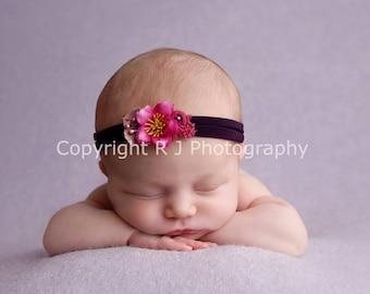 Harper, Baby Headband, Newborn Photo Prop, Baby Girl Headband, Newborn Headband, Headband, Flower Headband, Newborn Props, Baby Headbands