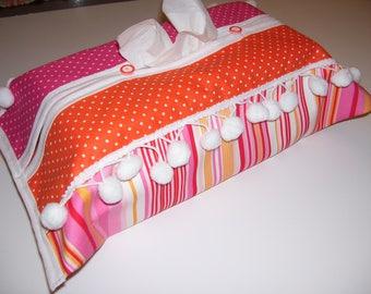 TISSUE BOX COVERS - pompom tissue box covers - pompom tissue covers - pompom kleenex box - pompom decor - pompom decorations - pompom covers