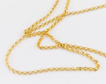 1.3mm 14 Karat Gold Filled Rolo Chain #BGU089
