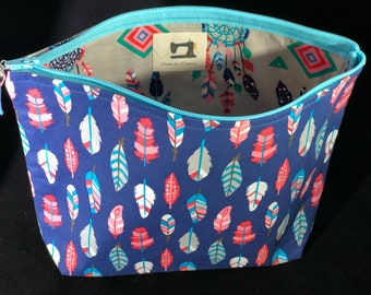 Feather Zipper pouch