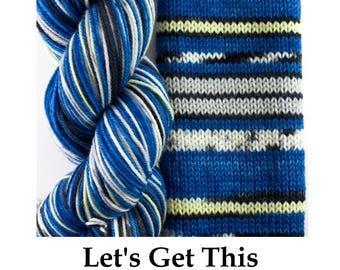 Striping Sock on TargHeel
