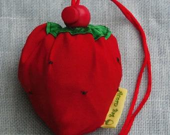 Acorn foldaway shopping bag  - Strawberry