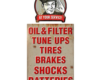 At Your Service Station Attendant Wall Decal Set #41349