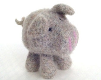 PATTERN PDF Crocheted and Felted Little Pig Amigurumi Pattern