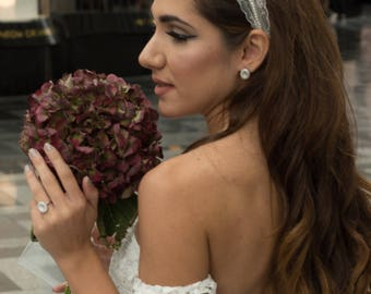 Le Haya Bridal Headband. Wedding Headpiece