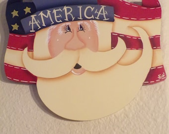 Uncle Sam wooden wall hanging -hand painted