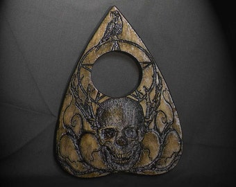 Lord Mocks Skull and Raven Planchette (Spirit Pointer)