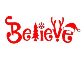 Digi-tizers Believe Christmas Word Art (SVG Studio V3 JPG)