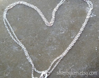 "1.4mm Cable Link Chain - 16"" or 18"" - Solid Sterling Silver"