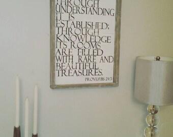 scripture art, wood sign, farmhouse decor, fixer upper decor, rustic wall art, rustic home decor, wood farmhouse decor, farmhouse wood sign