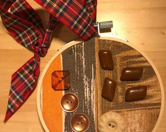 Embroidery Hoop Art - Chocolate