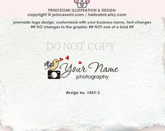 1465-2  camera logo, photography logo, logo branding,   business logo design, watermark, photography branding, cute camera, camera art