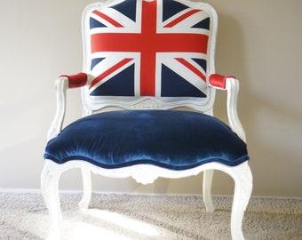union jack furniture. Upholstered Union Jack/British Vintage Armchair - SOLD Jack Furniture