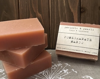 Pomegranate Mango Cold Processed Handmade Soap