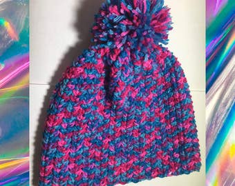 Bubblegum Pompom Hat