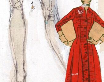 Postcard Lady, 'Post NO Bills', Antique Red, Aqua and Ivory White