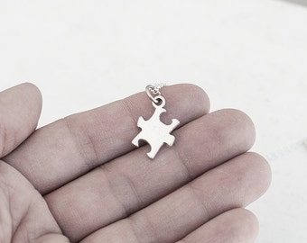 Puzzle Piece Necklace- Charm Jewelry- Minimalistic- Unique Gifts- Last Minute- Funny- Under 20 - Best Friends - Matching Necklaces - Love