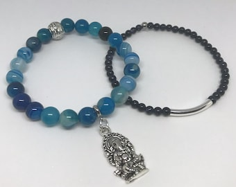 Ganesh charm bracelet with duo