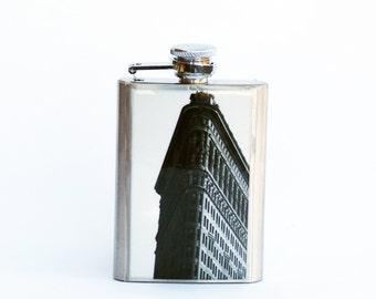 FLASK- FLATIRON FLASK, 3oz Flask, Stainless Steel Flask