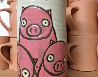Pig Vase/Utensil Holder