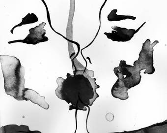The union, India ink painting