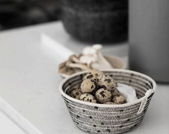 Black Rope Basket- Nestling Baskets- Storage Basket