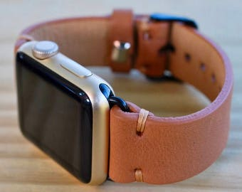 Leather Apple iWatch 38 mm - 42 mm Band | Series 1 / 2 / 3 iWatch Strap / Band Brown