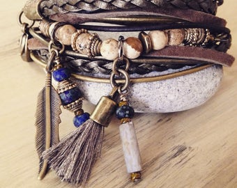 Mothers Day Gift for Mom Gift for Her Tassel Bracelets for Women Leather Jewelry Bohemian Jewelry Leather Bracelet Femme  Girlfriend Gift