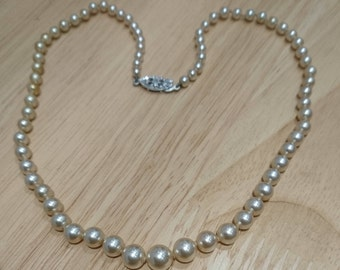 Vintage Lotus Pearls with 9ct white gold clasp