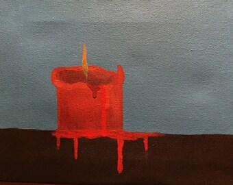 Acrylic Painting - Alone Alight