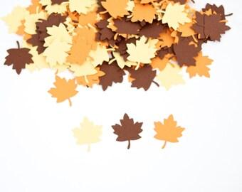 Thanksgiving Confetti, Leaf Confetti, Thanksgiving Decor, Fall Decoration