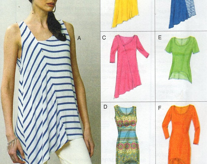 Vogue 8881 Free Us Ship  Pullover Dress Top Shaped Hem Size 4/14 16/26 Bust 29 30 31 32 34 36 38 40 42 44 46 48 Sewing Pattern New 2013