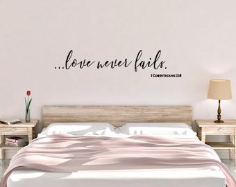 Love Never Fails 1 Corinthians 13:8 Vinyl Wall Decal