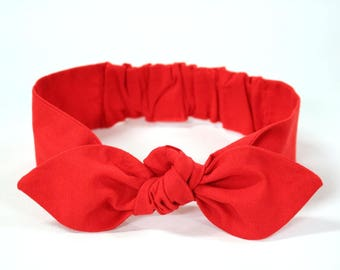 "Red Knot headband, Womens Headband, Adult Headband, Headband for Women, Girl Headband, Bow Headband, Girl, Women, Headband, ""Scarlett"""