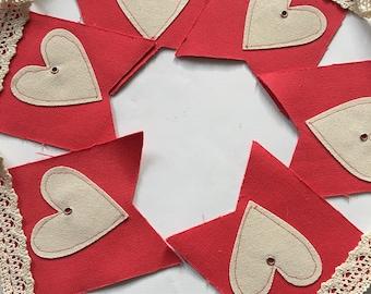 Valentine's Day canvas banner - Heart banner