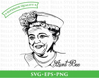 Aunt Bee Andy Griffith Show svg png eps cut file