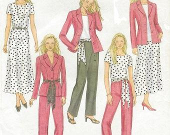 Womens Jacket, Top, Skirt, Pants & Sash OOP Butterick Sewing Pattern B4467 Size 8 10 12 14 Bust 31 1/2 to 36 UnCut Lifestyles Wardrobe