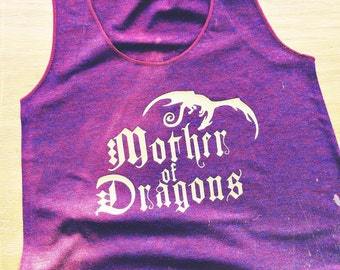Mother of Dragons Women's Racerback Tank - Inspired by Game of Thrones - Made in USA - by So Effing Cute